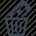 bin, capital, debt, money, recycle, risk analysis, trash, waste, wealth icon