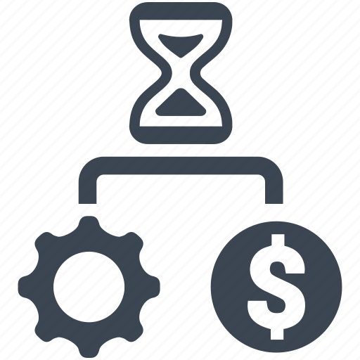 gear, money, optimization, performance, seo, settings, time icon