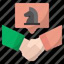 agreement, counterparty, handshake, partnership, shareholder, stakeholder, negotiate strategy
