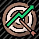achievement, aim, arrow, dartboard, marketing, success, successful