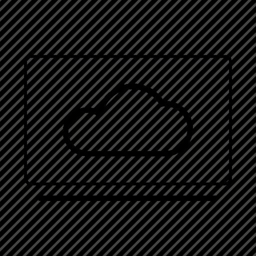cloud, data, monitor, server, storage icon