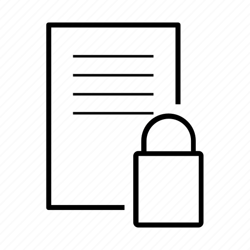 data, file, locked, security, security file icon