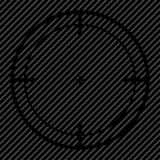aim, center, goal, point, target icon