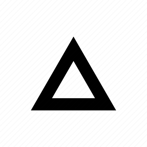 increase, triangle, up icon