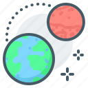 mars, planets, earth, space