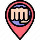 battle, fight, martial art, placeholder icon