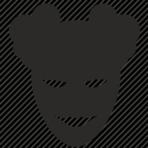 carnaval, face, head, joker, mask, terrorist icon