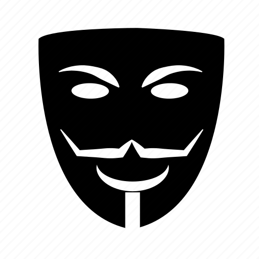 anonymous, carnival, costume, guy fawkes, mask, masquerade, theater masks icon