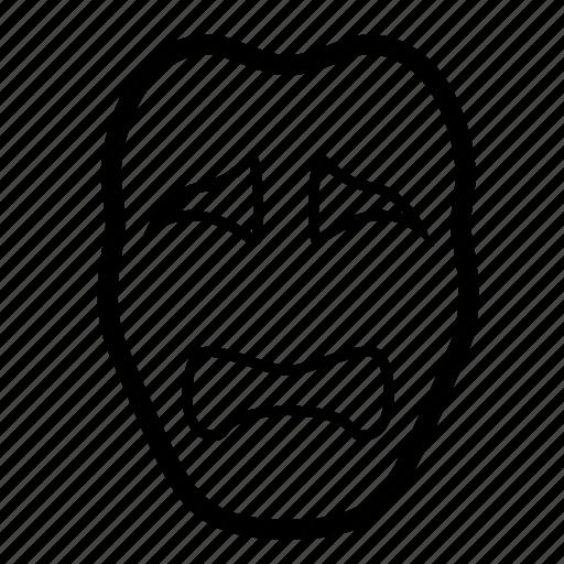 depressed, dissapointed, drama, mask, masquerade, sad, theater masks icon