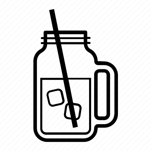container, drink, glass, jar, mason, straw icon
