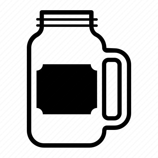 container, drink, glass, jar, mason, sticker icon
