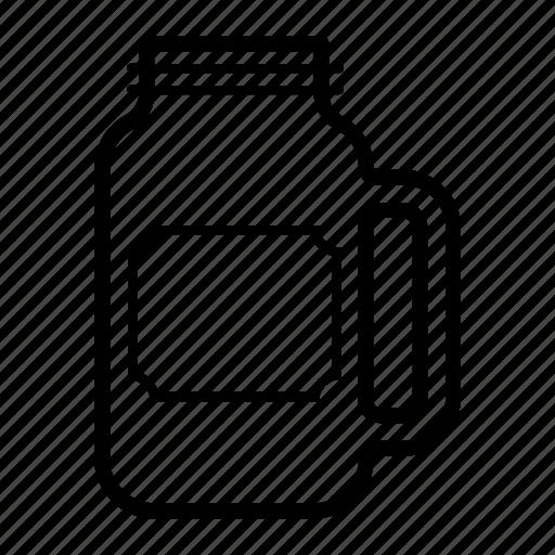 container, drink, glass, jar, mason, sticker icon