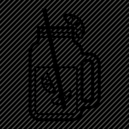 container, drink, glass, jar, mason, tea icon