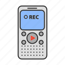 audio, dictaphone, media, rec, recorder, speech, voice icon