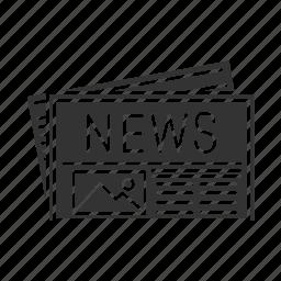 Periodical Press News Daily Newspaper Mass Media Printed Icon