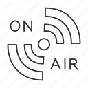 broadcast, live, media, on air, podcast, radio, signal