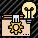 creation, idea, innovation, lightbulb, package