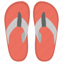 bathroom slipper, flip flops, footwear, slipper, softy shoes icon
