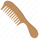 comb, hair equipment, hairbrush, ladies personal, salon product icon