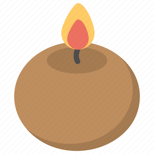 candle, clay vessel, spa product, wax candle, wax light icon