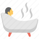 bathtub, hot bath, jacuzzi, relaxing bath, sauna, shower tub icon