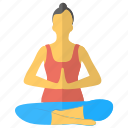 asanas, meditation, yoga mudra, yoga pose, yoga woman icon