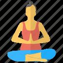 asanas, meditation, yoga mudra, yoga pose, yoga woman icon