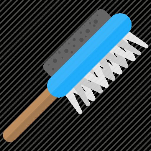 bathing brush, body brush, body cleaning brush, brush scrubber, handled body bath icon