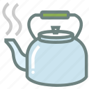 kettle, tea, tea kettle, tea pot, tea set, tea theme, tea time icon