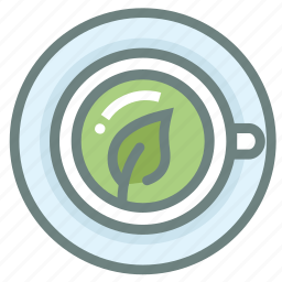 beverage, drink, green tea, hot, matcha, mug, tea icon