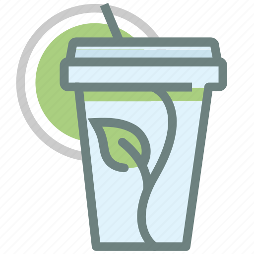 beverage, cold drink, drink, glass, green tea, matcha, tea icon