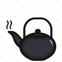 coffee, drink, glass, hot, teapot icon