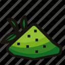 green, matcha, nature, powder, tea, tree icon