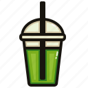 cafe, drink, green, matcha, nature, tea icon