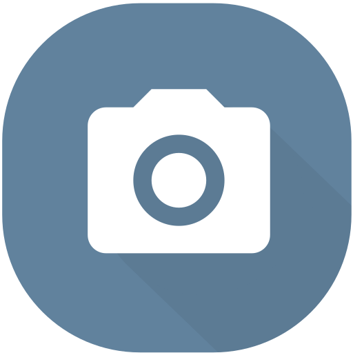 camera, circle, design, material, photo, photography, picture icon