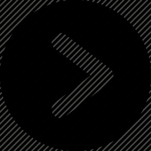 arrow, button, left, round icon