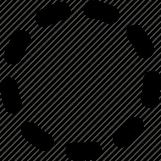 badge, dots, processing, stroke icon