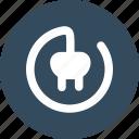 electric, plug, round, symbol icon