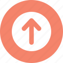 arrow, button, up, up arrow icon