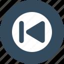 backward, button, round, start icon