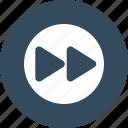 button, forward, rewind, round icon