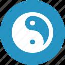 symbol, yang, yin, yin yang icon
