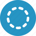 badge, dots, processing, stroke icon