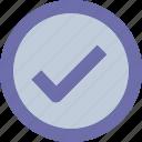 button, check, checked, round icon