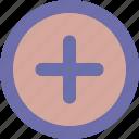 button, new, plus, round icon