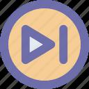 button, end, forward, next icon
