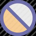 button, cancel, invert, symbol icon
