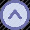 arrow, button, sign, top arrow, up icon