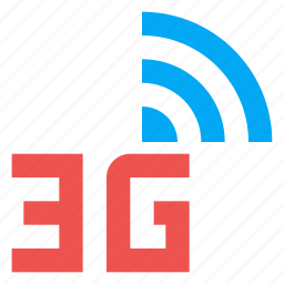 3g, data plan, mobile network, signal icon