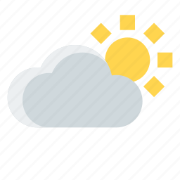 cloud, cloudy, forecast, sunny, weather icon